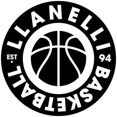 Llanelli Basketball Vintage Hoodie (Black Version 02)