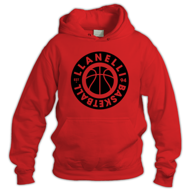 Llanelli Basketball Vintage Hoodie (Black Version 02)