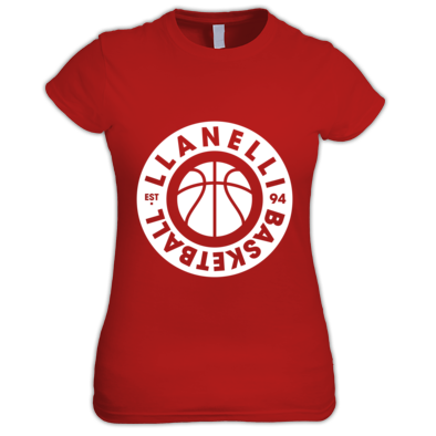 Llanelli Basketball Vintage Women's Tee (White Version 02)