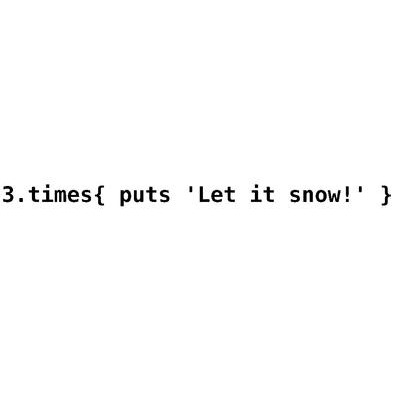 Let it snow - Ruby