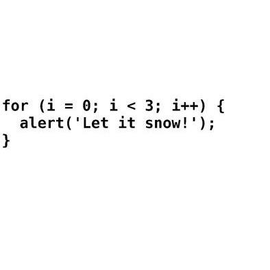 Let it snow - Javascript>
