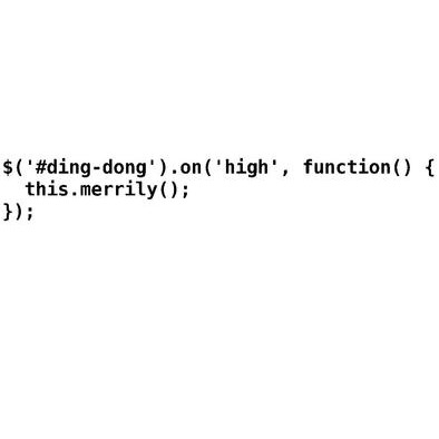 Ding dong merrily on high - jQuery>
