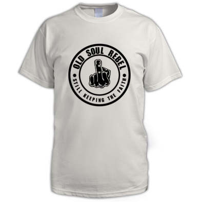 OLD SOUL REBEL STILL KEEPING THE FAITH MEN'S T-SHIRT