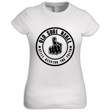 OLD SOUL REBEL STILL KEEPING THE FAITH WOMEN'S T-SHIRT