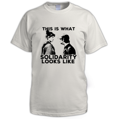 THIS IS WHAT SOLIDARITY LOOKS LIKE REGULAR/MEN'S T-SHIRT