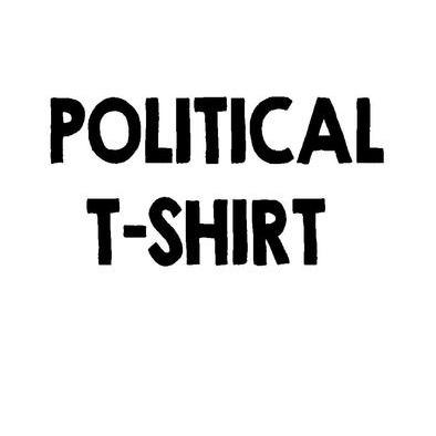 A POLITICAL T-SHIRT MEN'S>