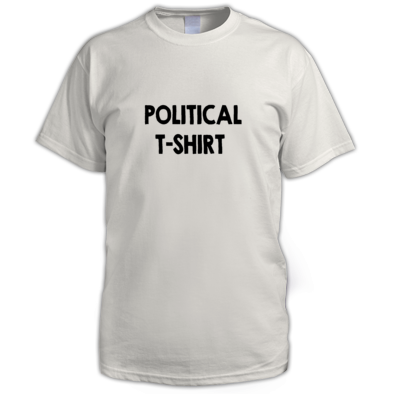 A POLITICAL T-SHIRT MEN'S