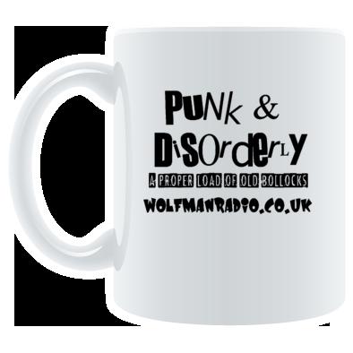 Punk & Disorderly Wolfman Radio Bollocks Mug