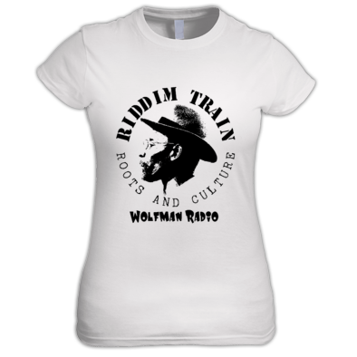RIDDIM TRAIN Wolfman Radio Ladies T-shirt