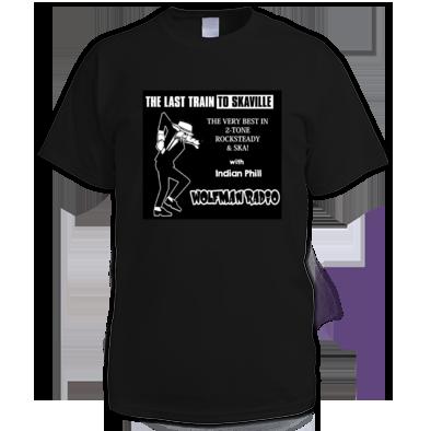 Last Train To Skaville Wolfman Radio Official Tee Shirt