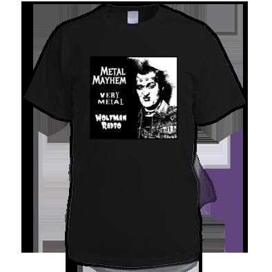 Metal Mayhem Wolfman Radio Official Tee Shirt