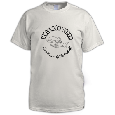 Wolfman Radio Monotone Tee Shirt