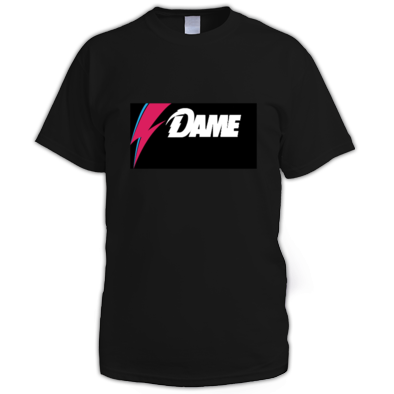 DAME Bowie Tribute Tee Shirt