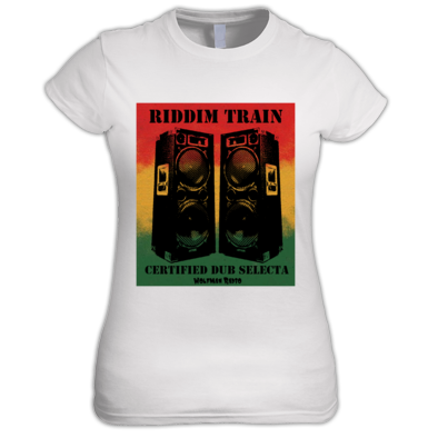 Riddim Train Dub Selecta Wolfman Radio Women's Tee