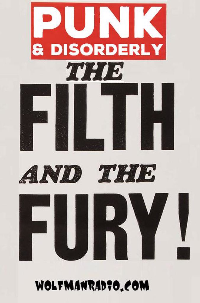 Wolfman Radio Punk & Disorderly Filth & Fury T Shirt>