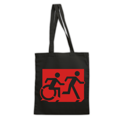 Accessible Means of Egress Icon (Running Man and Wheelie Man Right Hand) Wheelchair Exit Sign Design