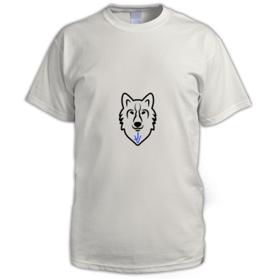 t-shirts boy/men with the JV wolf logo