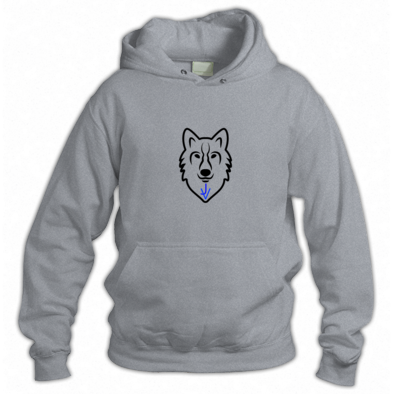 hoodie with the JV wolf logo