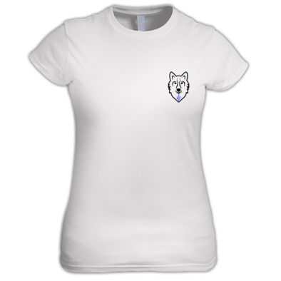 t-shirts girl/woman with the JV wolf logo LEFT NOT Right