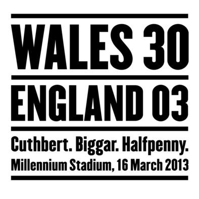 Wales 30 England 3. Six Nations Rugby Union - Mug