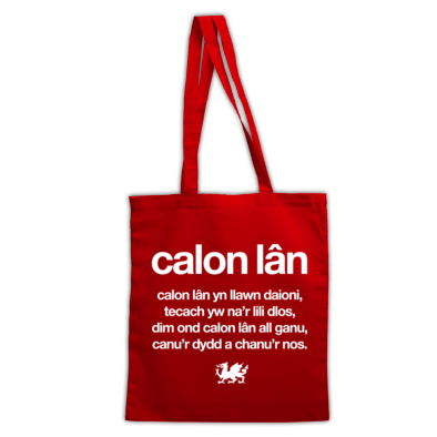 Calon Lan - Wales 6 Nations Rugby Union - Tote Bag