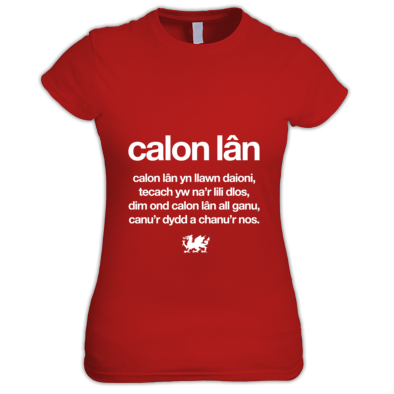 Calon Lan - Wales 6 Nations Rugby Union - Women's T-shirt