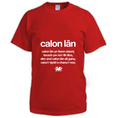 Calon Lan - Wales 6 Nations Rugby Union - Men's T-shirt