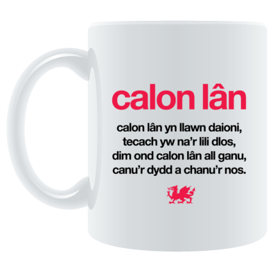 Calon Lan - Wales 6 Nations Rugby Union - Mug
