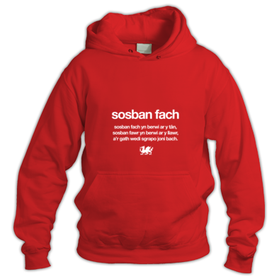 Sosban Fach - Wales 6 Nations Rugby Union - Hoody