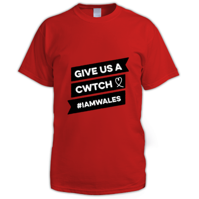 Wales Rugby - Give Us A Cwtch - Mens T-shirts