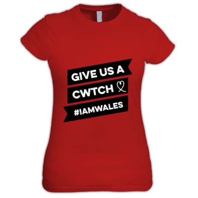 Wales Rugby - Give Us A Cwtch - Womens Tshirts