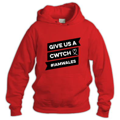 Wales Rugby - Give Us A Cwtch - Hooded Tops