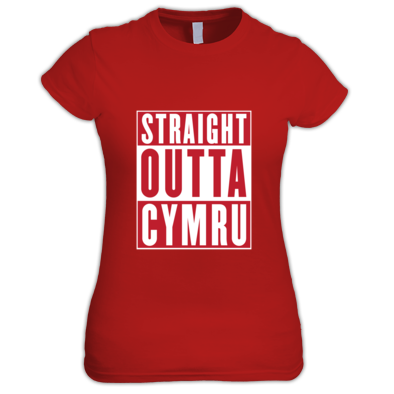 Wales Rugby Union - Straight Outta Cymru - Women's t-shirts