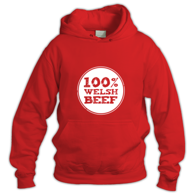 Wales Rugby - 100% Welsh Beef - Hoodies