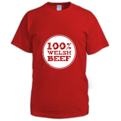 Wales Rugby - 100% Welsh Beef - Mens tshirts