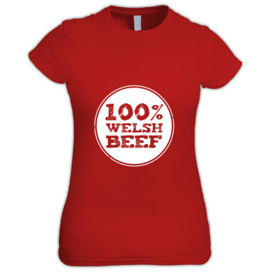 Wales Rugby - 100% Welsh Beef - Womens tshirts