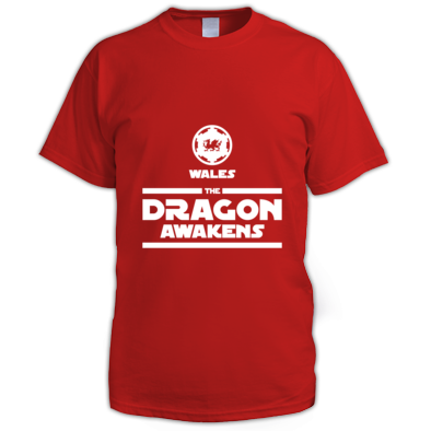 Wales Rugby - The Dragon Awakens - Mens Tshirts