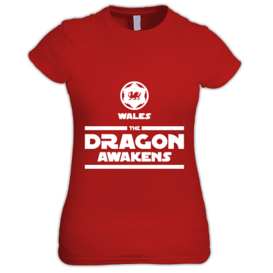 Wales Rugby - The Dragon Awakens - Womens Tshirts
