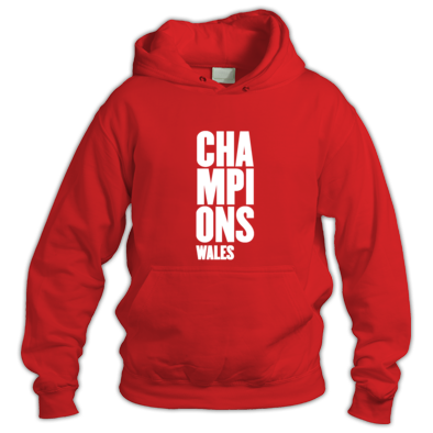 Wales Six Nations Rugby Union Champions - hooded tops