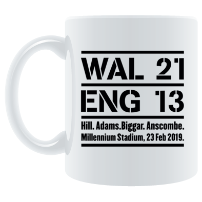 Wales 21 England 13. Six Nations Rugby Union - Mugs