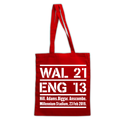 Wales 21 England 13. Six Nations Rugby Union - Bags