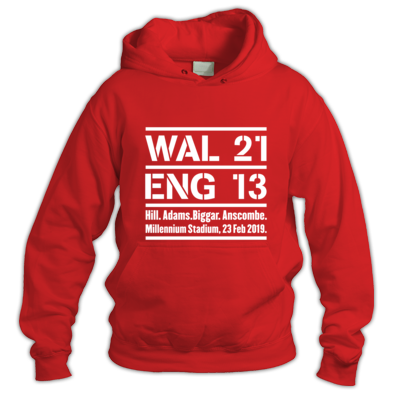 Wales 21 England 13. Six Nations Rugby Union - Hoodies
