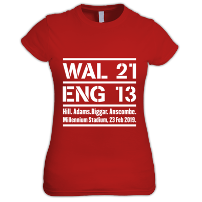 Wales 21 England 13. Six Nations Rugby Union - Women's T-Shirts