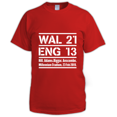 Wales 21 England 13. Six Nations Rugby Union - Men's T-Shirts