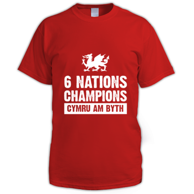 Wales Six Nations Rugby Union Champions - Men's T-shirts