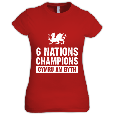 Wales Six Nations Rugby Union Champions - Women's T-shirts