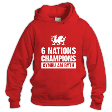 Wales Six Nations Rugby Union Champions - Hoodies