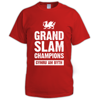 Wales Rugby Union Grand Slam Champions - Men's T-shirts