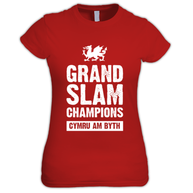 Wales Rugby Union Grand Slam Champions - Women's T-shirts
