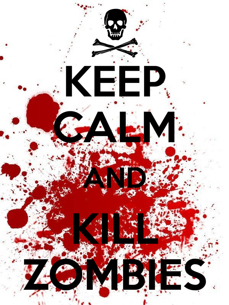 Keep Calm and Kill Zombies>